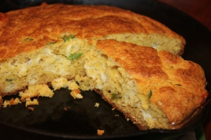 Jalapeno Cornbread Hot from the Oven