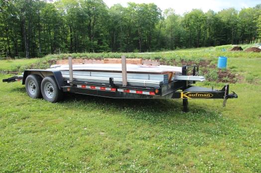 A loaded trailer