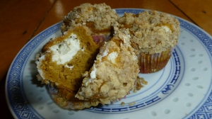 Inside-out Pumpkin Muffins