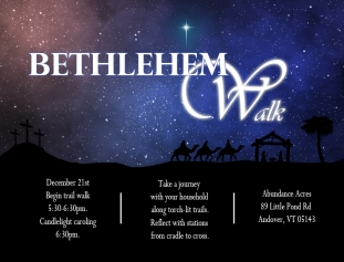 Bethlehem Walk Poster